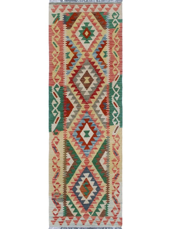 One Of A Kind Priston Hand Woven Wool Gold Area Rug