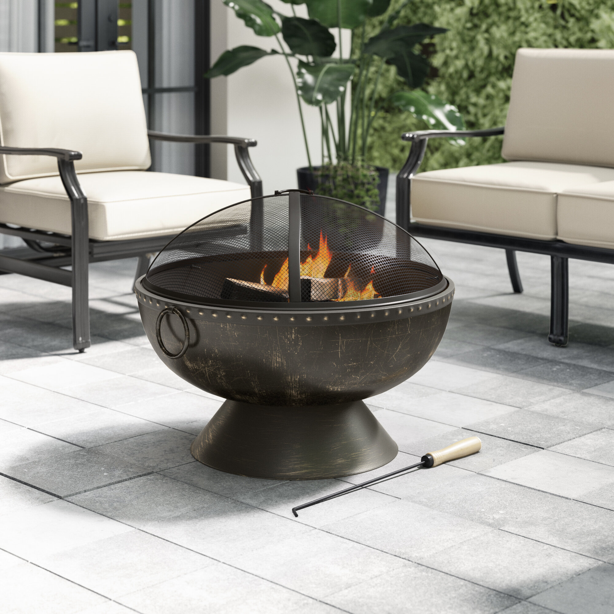 Greyleigh Tuscola Firebowl Steel Wood Burning Fire Pit Reviews Wayfair