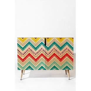 Chevrons Accent Cabinet by East Urban Home