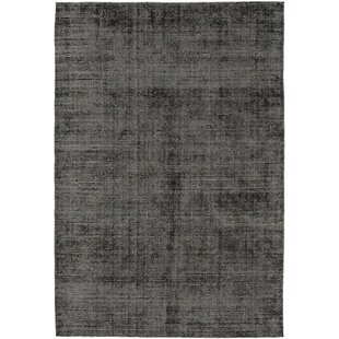 One-of-a-Kind Destin Hand-Knotted Wool/Silk Black Indoor Area Rug Isabelline