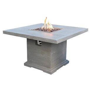 Birmingham Patio Dining Concrete Propane Fire Pit Table By Envelor Home
