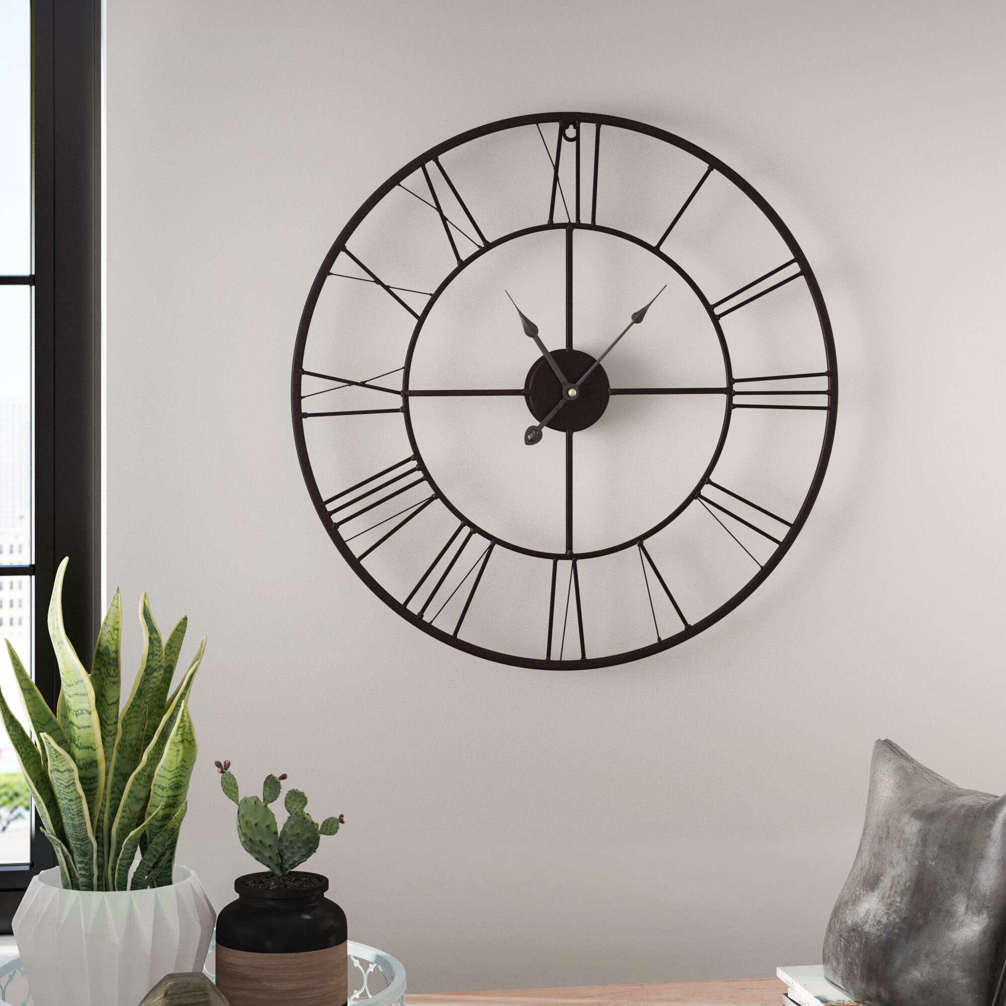 Farmhouse Wall Clocks Free Shipping Over 35 Wayfair