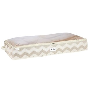 Great choice Textured Chevron Under-the-Bed Storage Bag By Macbeth Collection