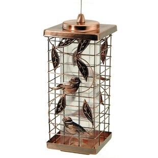 Akerue Industries 2 Port Copper Caged Tube Bird Feeder