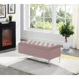 Carmel Barrie Upholstered Flip Top Storage Bench by House of Hampton