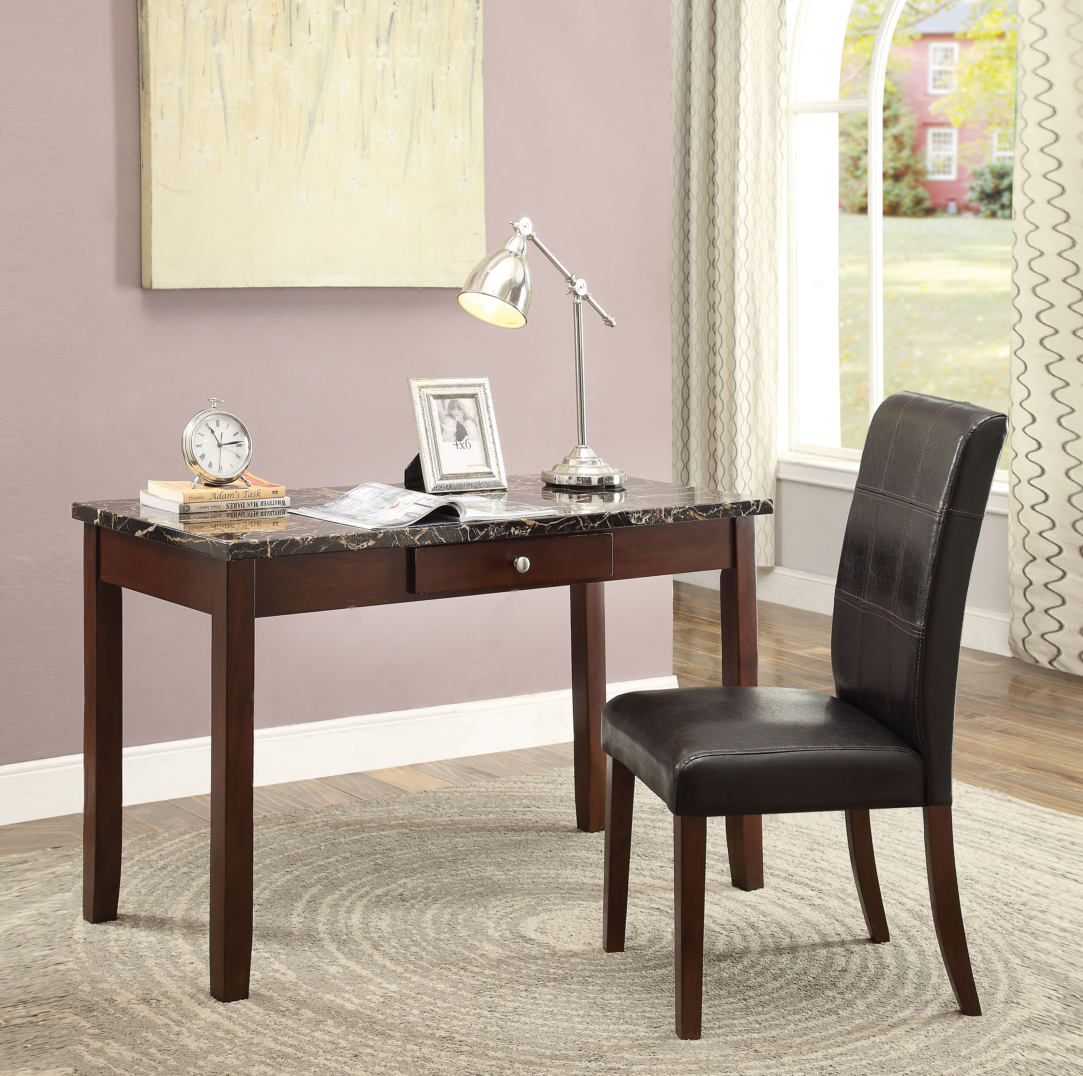 Red Barrel Studio Tolar Writing Desk And Chair Set Wayfair