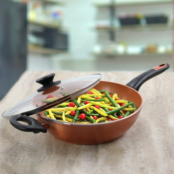 Gibson Home 3 Qt Cuisine Ceramic Non Stick Saute Pan With Lid Wayfair