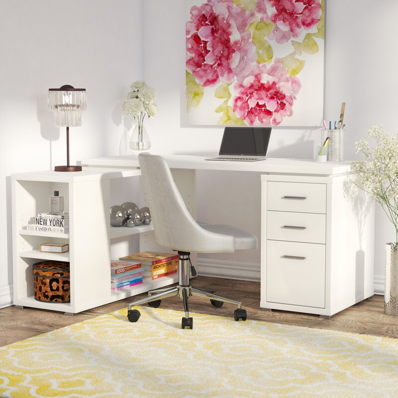 Willa Arlo Interiors Drewes L-Shaped Desk & Reviews