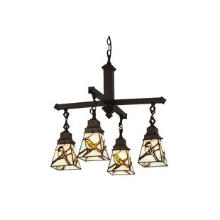 Meyda Tiffany Early Morning Visitors 4-Light Shaded Chandelier