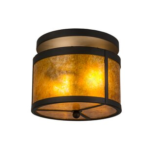 Ybanez 2-Light Semi Flush Mount by Loon Peak