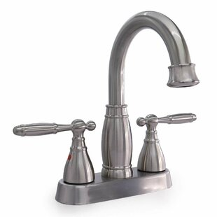 Phiestina Centerset Bathroom Faucet with Drain Assembly