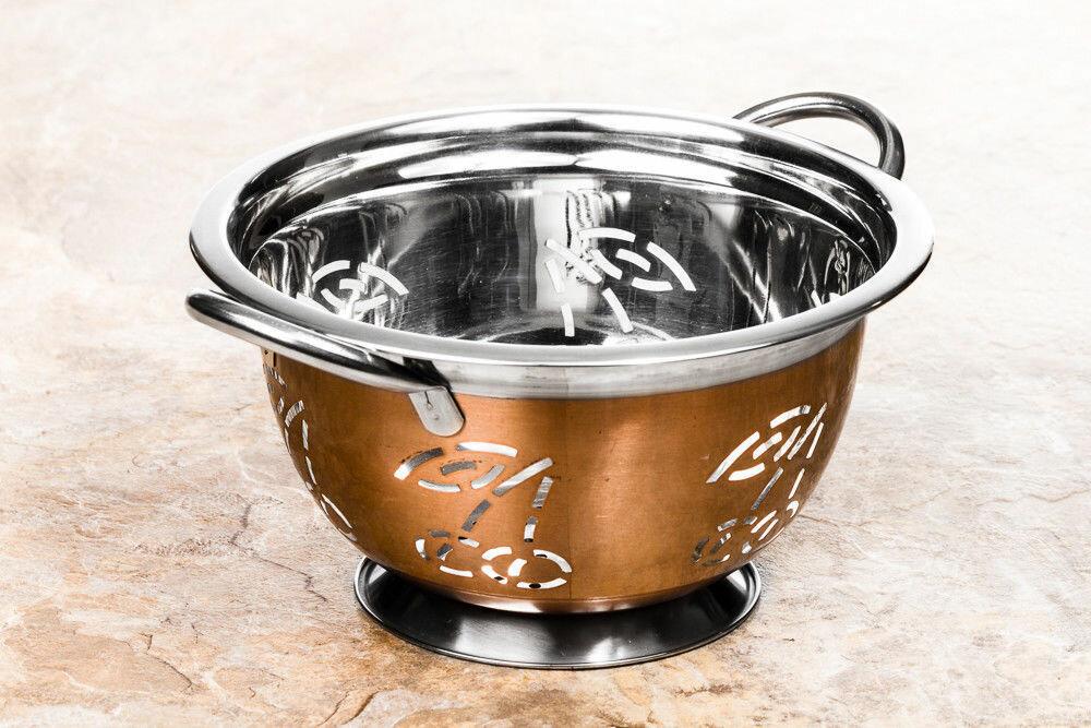 Imperial Home Kitchen Strainer Cherry Design Stainless Steel 3 Qt Colander Reviews Wayfair