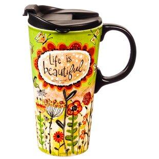 Mikonos Life is Beautiful Travel Mug