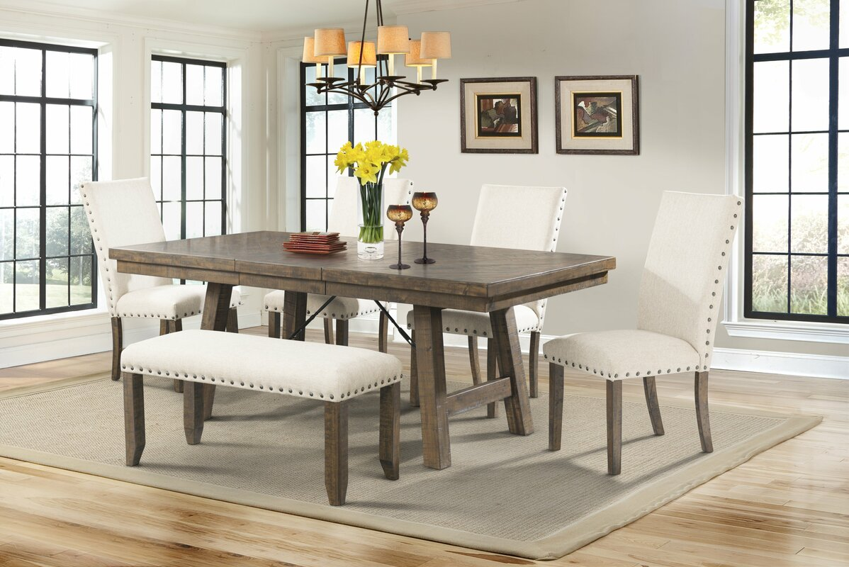 Lovely Dearing 6 Piece Dining Set