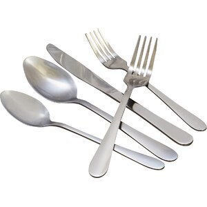 Wayfair Basics 20 Piece Stainless Steel Flatware Set
