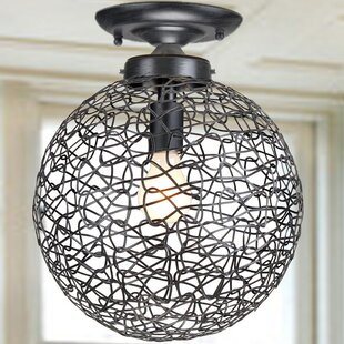 Wrought Studio Dorfman 1-Light Semi Flush Mount