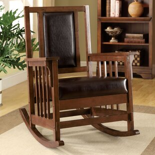 Great deal Valley Leatherette Arm Rocking Chair by Hokku Designs Reviews (2019) & Buyer's Guide