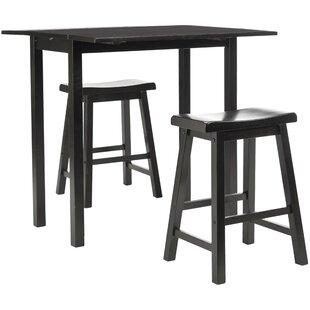 Elise Pub Table in Dark Espresso (Set of 3)