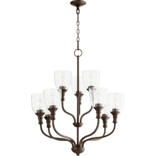 Charlton Home Falbo 9-Light Shaded Chandelier