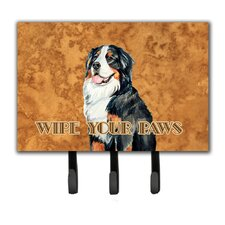 Bernese Mountain Dog Wipe Your Paws Leash Holder and Key Hook by Caroline's Treasures