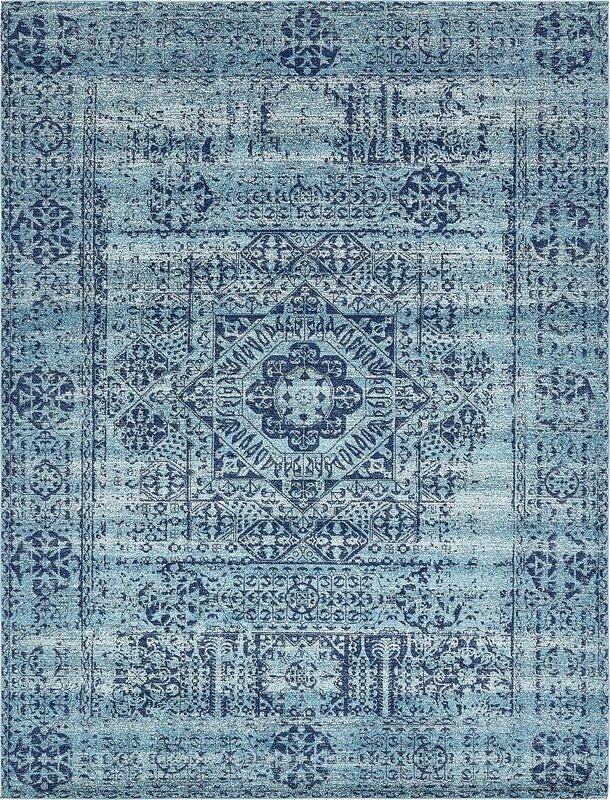 Cretien Turquoise Area Rug