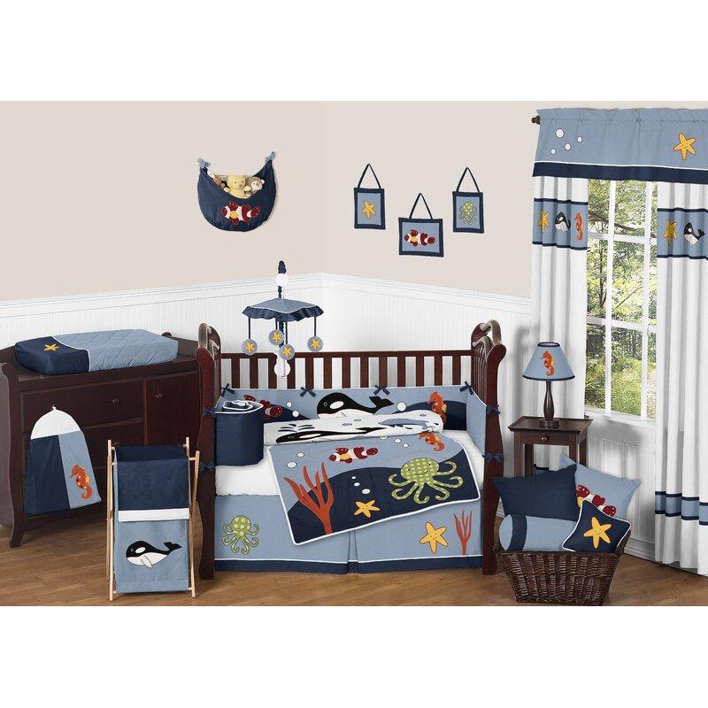 Ocean 9 Piece Crib Bedding Set
