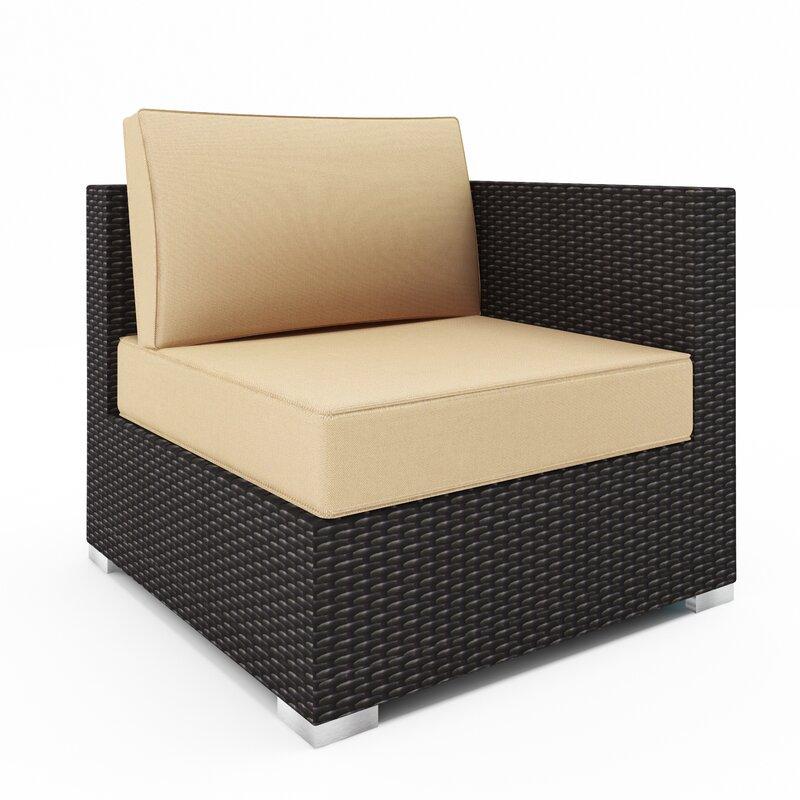 Latitude Run Daleville Patio Chair with Sunbrella Cushions