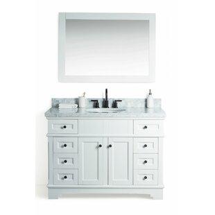 Coeur d'Alene Solid Wood 49 Single Bathroom Vanity Set with Mirror