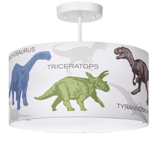Church Strett Dinosaur 3-Light Semi Flush Mount by Harriet Bee