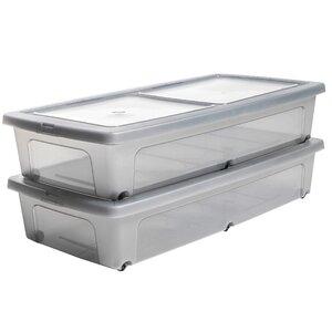 2-tlg. Aufbewahrungsbox Underbed aus Kunststoff von IRIS