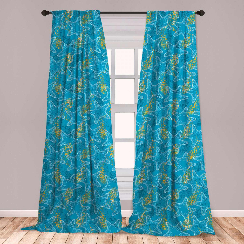 East Urban Home Starfish Polka Dots Room Darkening Rod Pocket Curtain Panels Wayfair