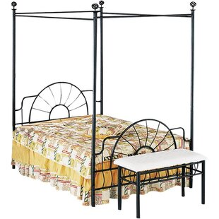 August Grove Moyer Metallic Canopy Bed