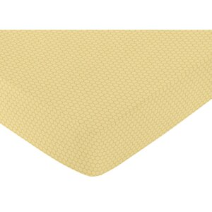 Honey Bee Honeycomb Fitted Crib Sheet