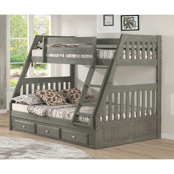 Birch Lane Willis Twin Over Full Bunk Bed With Drawers Reviews