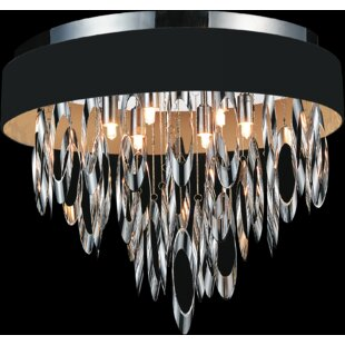 Inexpensive Excel 6-Light Flush Mount By CWI Lighting