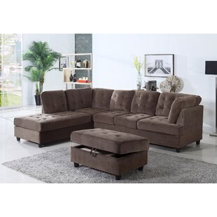 Winston Porter Cauldwell Sectional with O..
