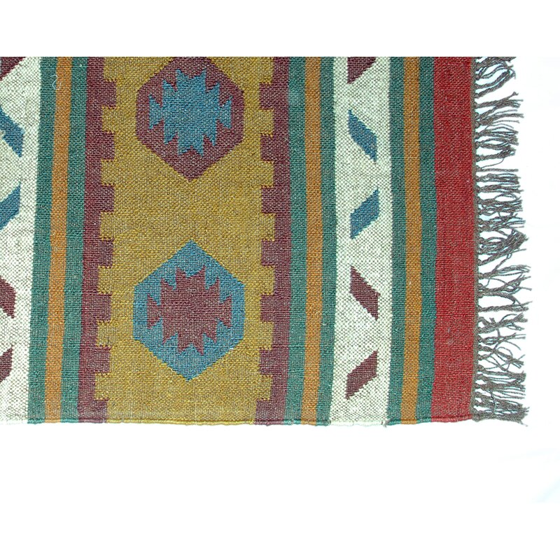 Isabelline One Of A Kind Filip Hand Knotted Red Green Yellow 4 X 6 Area Rug Wayfair