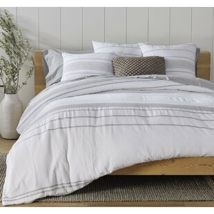 Rippled Stripe Organic Duvet Cover Set