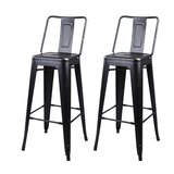 Capucine Middle Back Metal 30 Bar Stool (Set of 2) by Williston Forge