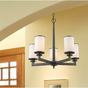 Crumley 5-Light Shaded Chandelier by Breakwater Bay