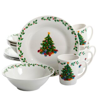 Downing Gathering Decorated 12 Piece Dinnerware Set, Service for 4