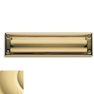 Baldwin 13 in x 3.6 Brass Mail Slot Color: Unlacquered Brass