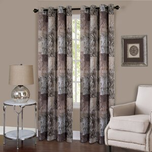 Wooster Toile Blackout Grommet Single Curtain Panel