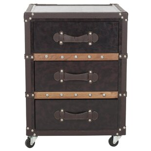 Safavieh Norman 3 Drawer Rolling Chest