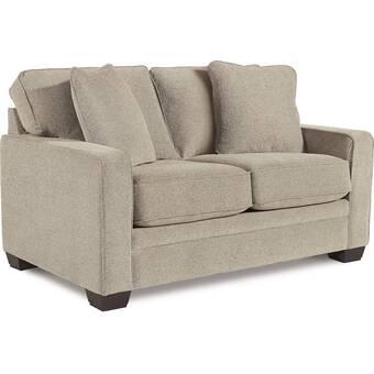 La Z Boy Meyer Premier 62 Square Arm Loveseat With Reversible Cushions Wayfair