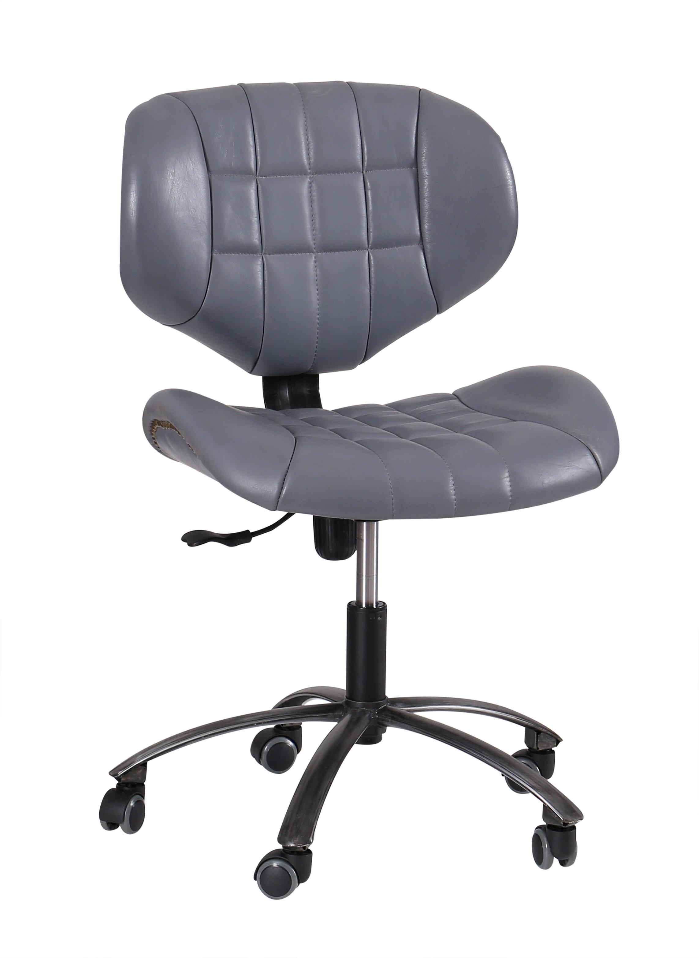 hazelwood home aviator leather office chair reviews wayfair co uk