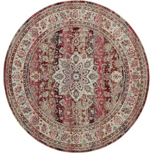 Lowndes Bohemian Red/Beige Area Rug by Bungalow Rose