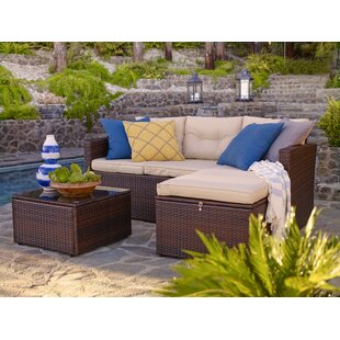 Galgano 3 Piece Sectional Seating Group with Cushions