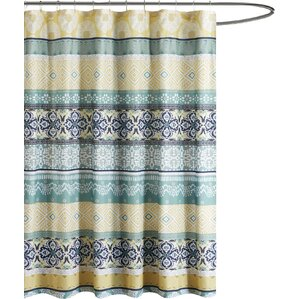 aqua and brown shower curtain. Bickford Printed Shower Curtain Green Curtains You ll Love