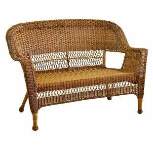Karan Wicker Patio Loveseat